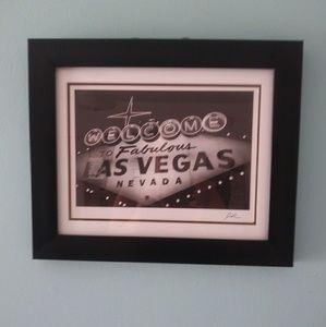 Framed las vegas sign from target home